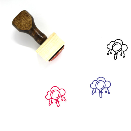Cloud Search Wooden Rubber Stamp No. 74