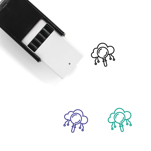 Cloud Search Self-Inking Rubber Stamp No. 74