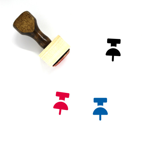 Pushpin Wooden Rubber Stamp No. 29
