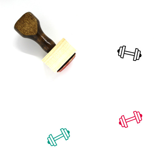 Weight Wooden Rubber Stamp No. 41