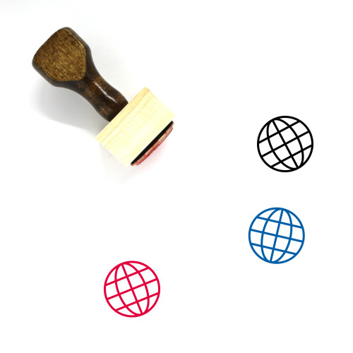 Earth Grid Wooden Rubber Stamp No. 2