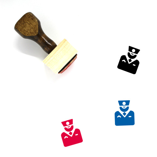 Conductor Wooden Rubber Stamp No. 15