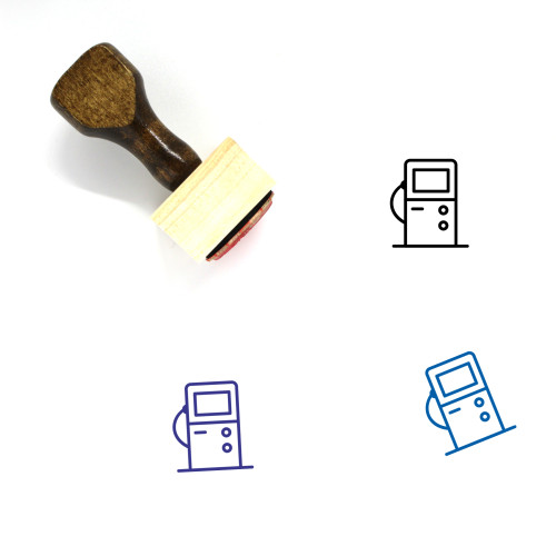Petrol Station Wooden Rubber Stamp No. 12