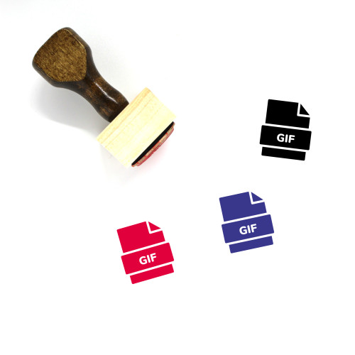 Gif File Wooden Rubber Stamp No. 47