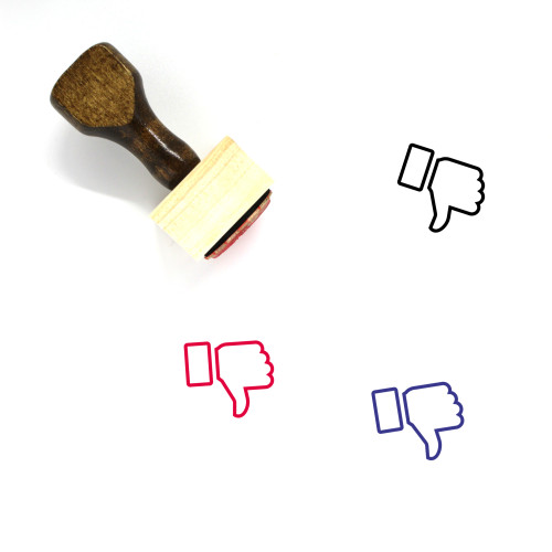 Thumbs Down Wooden Rubber Stamp No. 78