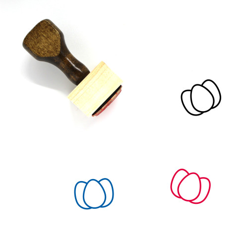 Eggs Wooden Rubber Stamp No. 134