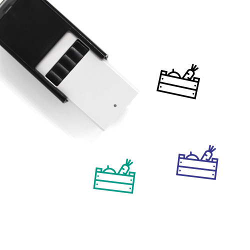 Vegetables Self-Inking Rubber Stamp No. 8