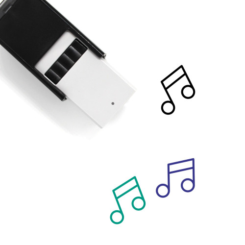 Music Notes Self-Inking Rubber Stamp No. 74