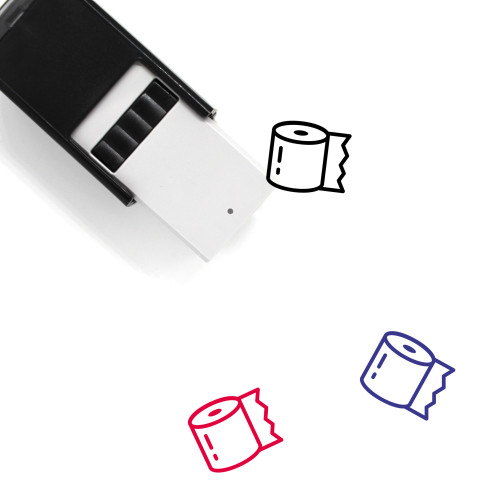 Toilet Paper Self-Inking Rubber Stamp No. 47