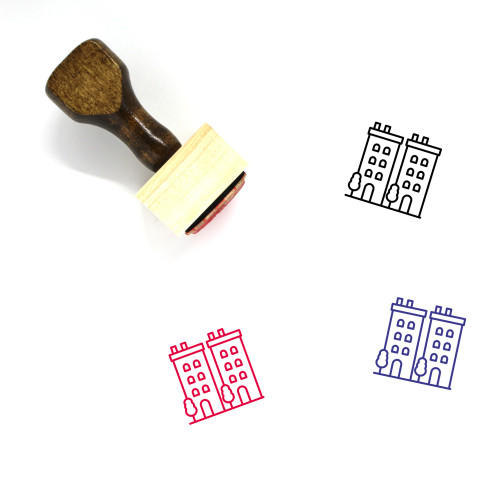 Town Wooden Rubber Stamp No. 132