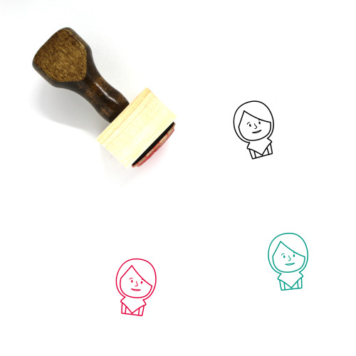 Avatar Woman Wooden Rubber Stamp No. 10