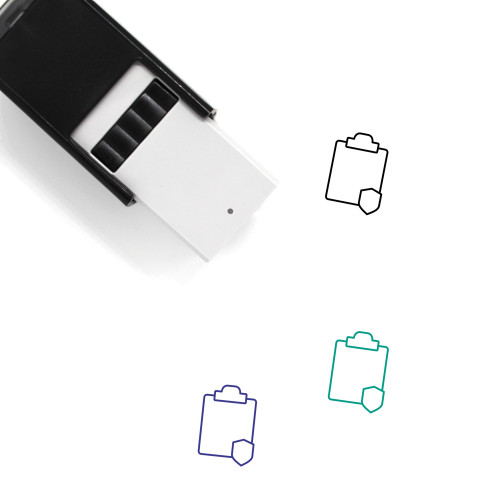 Secure Clipboard Self-Inking Rubber Stamp No. 12