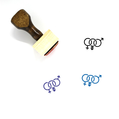 Bisexual Transgender Wooden Rubber Stamp No. 2