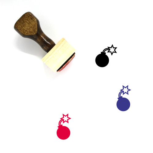 Bomb Wooden Rubber Stamp No. 160