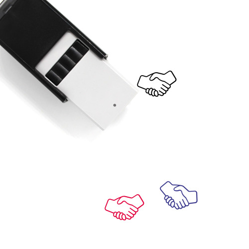 Handshake Self-Inking Rubber Stamp No. 101