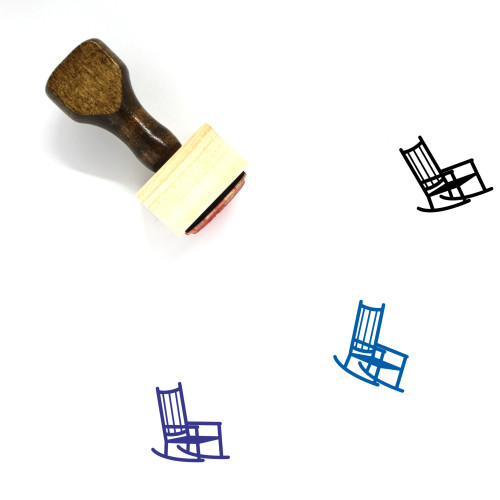 Rocking Chair Wooden Rubber Stamp No. 9