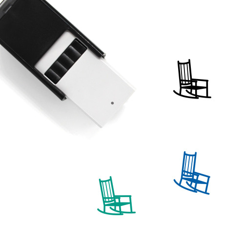 Rocking Chair Self-Inking Rubber Stamp No. 9
