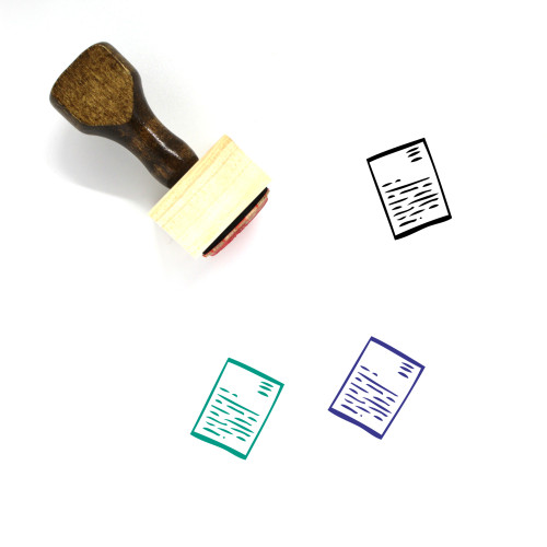 Letter Wooden Rubber Stamp No. 128