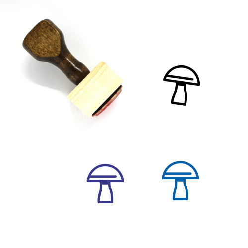 Mushroom Wooden Rubber Stamp No. 37