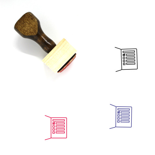 Check List Wooden Rubber Stamp No. 34