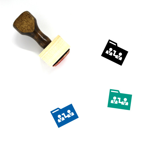 Folder Connect Wooden Rubber Stamp No. 1