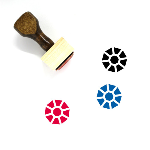 Gem Wooden Rubber Stamp No. 8