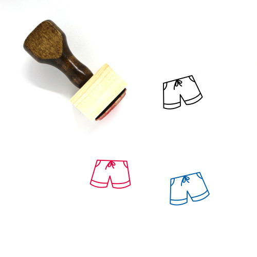 Shorts Wooden Rubber Stamp No. 112