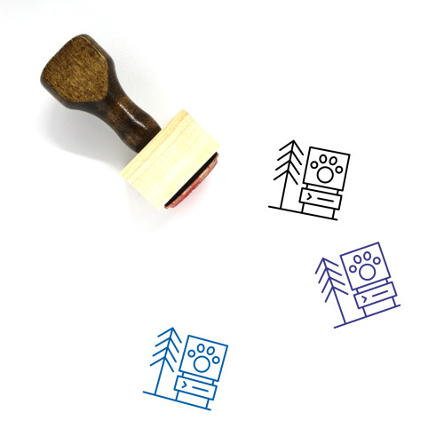 Zoo Wooden Rubber Stamp No. 40