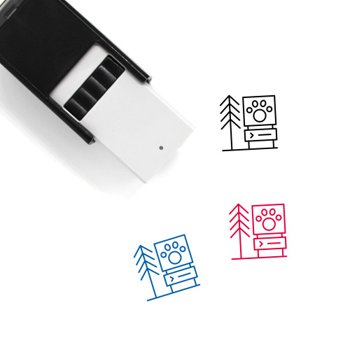 Zoo Self-Inking Rubber Stamp No. 40