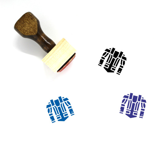 Armour Wooden Rubber Stamp No. 5