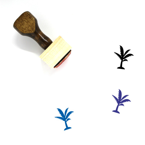 Palm Tree Wooden Rubber Stamp No. 213