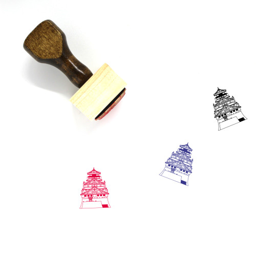 Japanese Castle Wooden Rubber Stamp No. 7