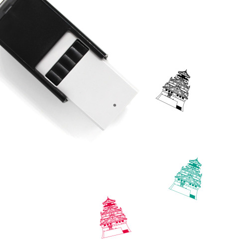 Japanese Castle Self-Inking Rubber Stamp No. 7