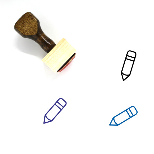 Pen Wooden Rubber Stamp No. 193