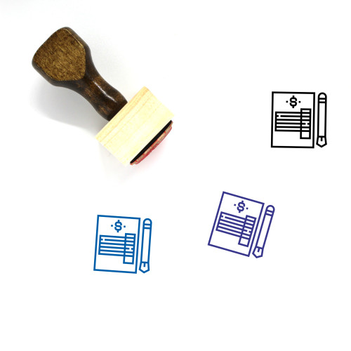 Invoice Wooden Rubber Stamp No. 54