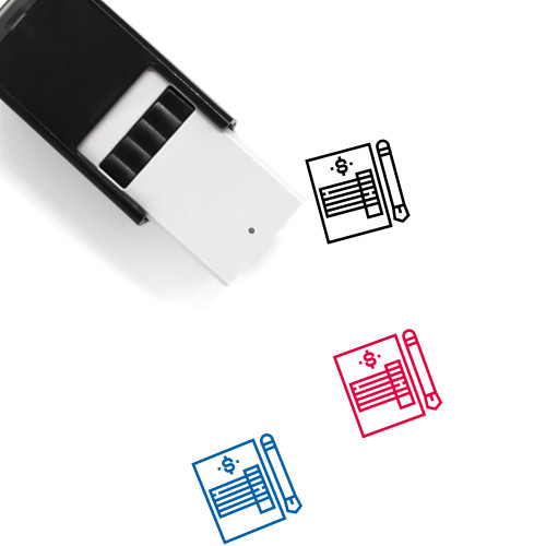 Invoice Self-Inking Rubber Stamp No. 54