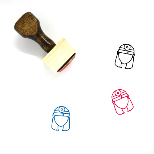 Doctor Wooden Rubber Stamp No. 183