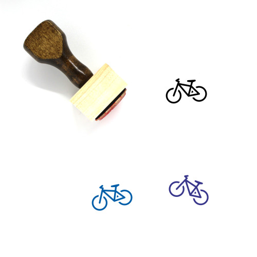 Bicycle Wooden Rubber Stamp No. 199
