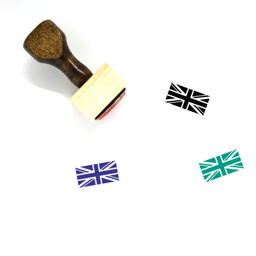 Flag Of The United Kingdom Wooden Rubber Stamp No. 1