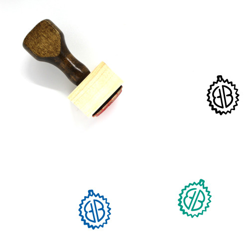 Durian Wooden Rubber Stamp No. 39