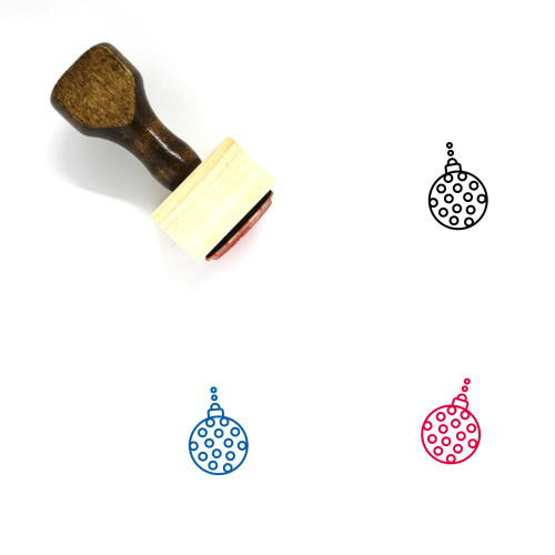 Christmas Bauble Wooden Rubber Stamp No. 38