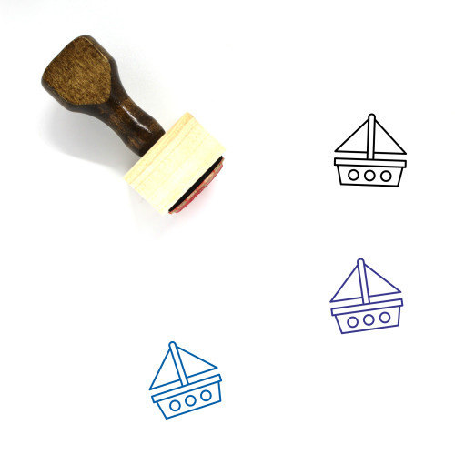 Sailing Boat Wooden Rubber Stamp No. 34