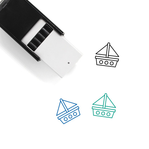 Sailing Boat Self-Inking Rubber Stamp No. 34