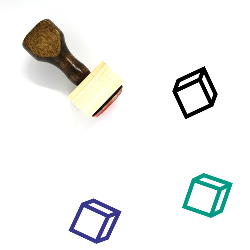 Cube Wooden Rubber Stamp No. 86