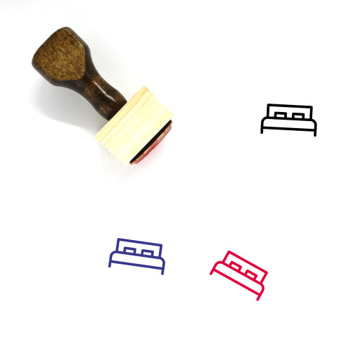 Bed Wooden Rubber Stamp No. 84