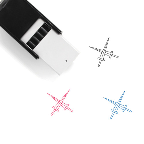 Swords Self-Inking Rubber Stamp No. 93