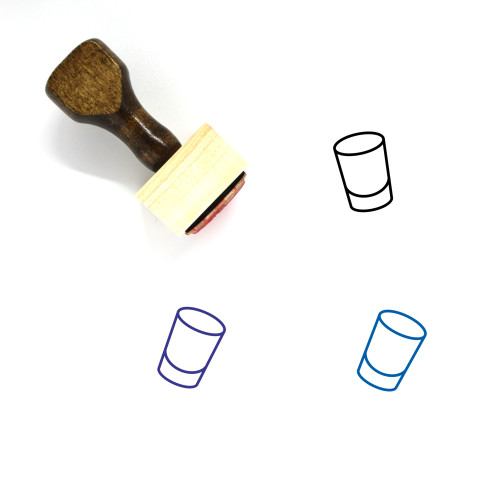 Shot Glass Wooden Rubber Stamp No. 39