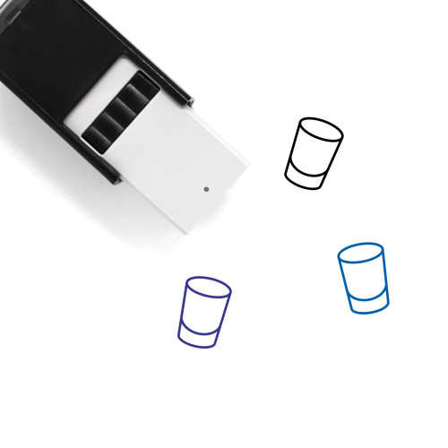 Shot Glass Self-Inking Rubber Stamp No. 39
