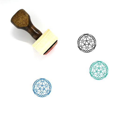 Dodecahedron Wooden Rubber Stamp No. 36
