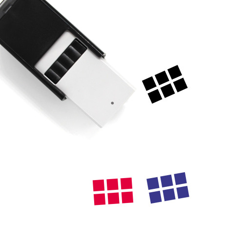 Grid Self-Inking Rubber Stamp No. 79